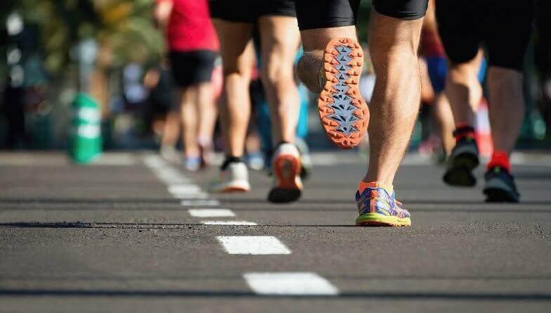 sportlicher Mann Marathon