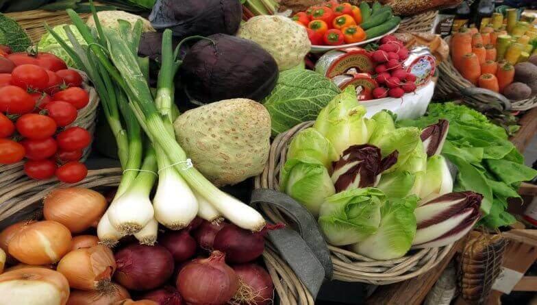 gemüsemarkt, regionales gemüse